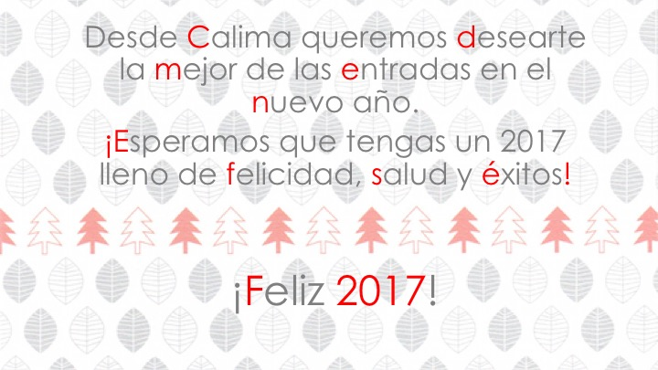 ¡Calima te desea un feliz 2017!